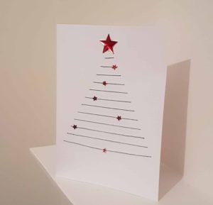 christmas card red stars