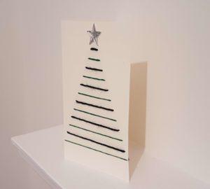 christmas card wool