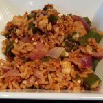 okra rice bowl