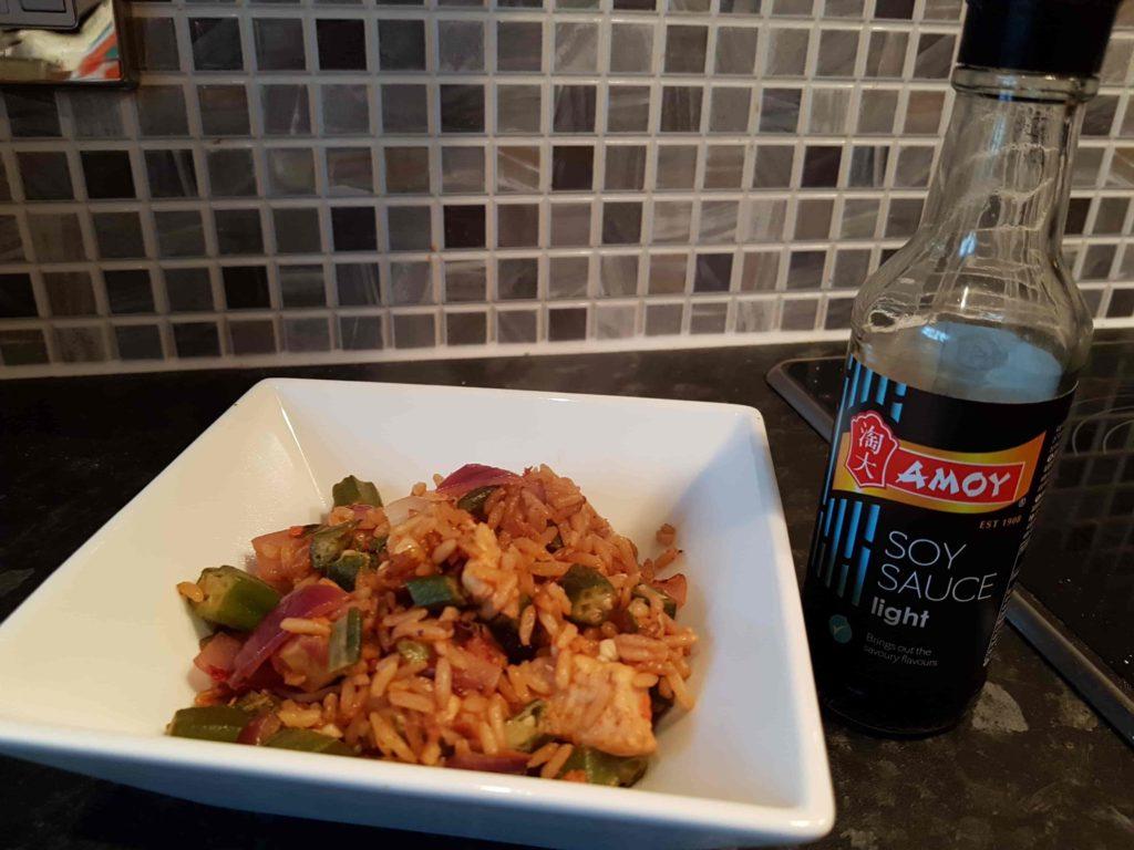 okra rice quorn