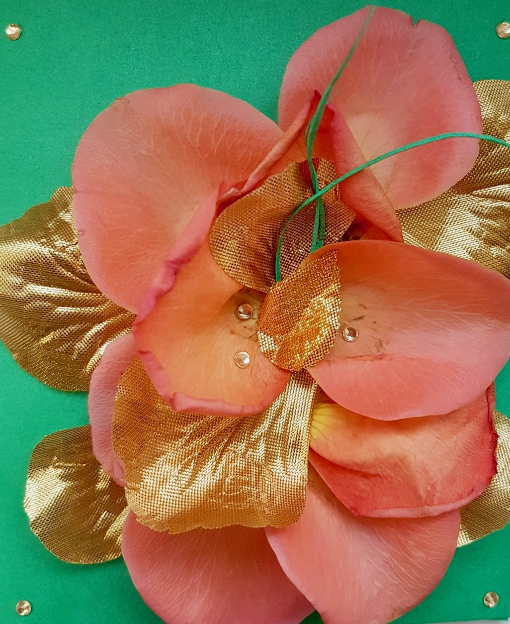 rose petal card