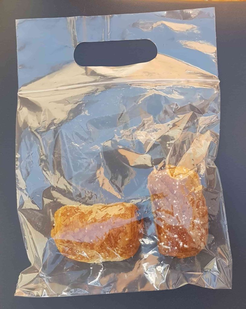 pastries in bag