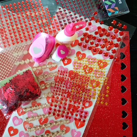 making ruby anniversary craft