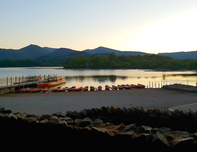 sunset-Derwentwater-view